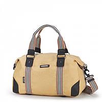 Спортивная сумка Dolly 932 красная кожзам и текстиль плечевой ремень Украина 38см х 22см х 21см