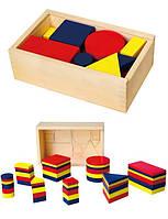 Деревянный набор для обучения viga toys Логические блоки (56164)