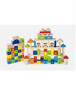 Набор деревянных кубиков viga toys Алфавит и числа 100 . 3 см. (50288)