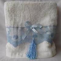 Оригинальные банные полотенца с кружевом