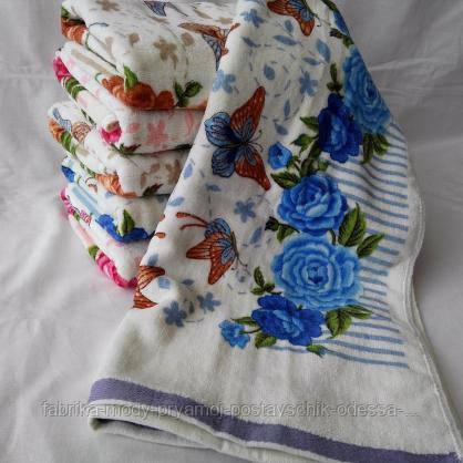 Красивые лицевые полотенца, с цветочным принтом