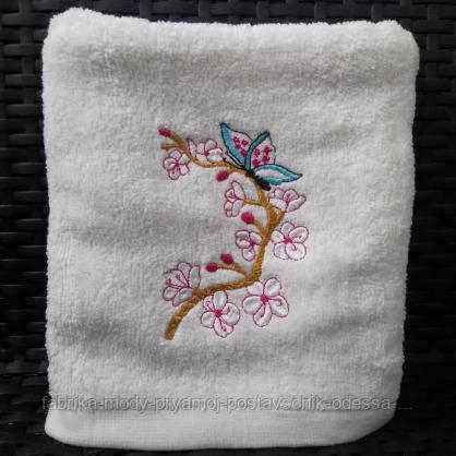 Махровые лицевые полотенца с принтом Сакура