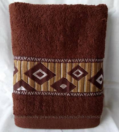 Мягкие лицевые полотенца с принтом ромбики