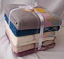 Махровые лицевые полотенца с принтом ромбики, фото 2