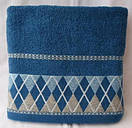 Махровые лицевые полотенца с принтом ромбики, фото 3