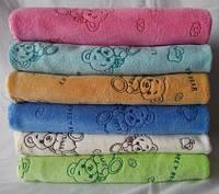 Детские цветные банные полотенца с мишками