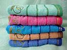 Махровые банные полотенца с цветочной отделкой, фото 2