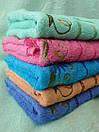 Махровые банные полотенца с цветочной отделкой, фото 3