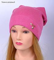Демисезонная шапка для девочек с имитацией ушек, фото 1