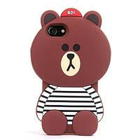 Силиконовая накладка мишка Xiaomi Redmi 3 3S 3 PRO