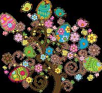 "Вафельная картинка ""Пасха-дерево"" A4 Galette - 1262"
