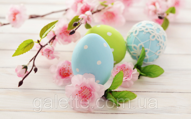 "Вафельная картинка ""Happy Easter"" A4 Galette - 1262"