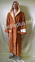 Мужской халат с капюшоном America софт