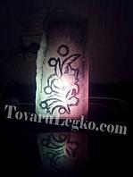 Солевой светильник - Скала с рисунком (3,5 кг)