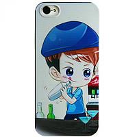 Силиконовый чехол на заднюю крышку iphone SE 5 5S smtt picture (barman)