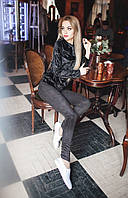 Женские лосины Ткань стрейчевый турецкий замш( очень классно тянется) Цвет чёрный, электрик, графит, темно-синий Сзади карманы рабочие, клепки как на