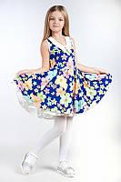 Платье (полотно: Масло+гипюр)возраст: 7-8 лет, фото 1