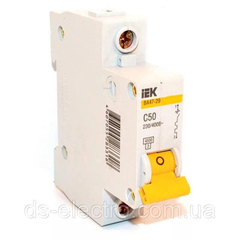 Автоматический выключатель ВА 47-29 1P  6 A 4,5кА х-ка C IEK