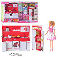 Кукла с кухней DEFA 8085 2 вида, свет