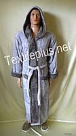 Мужской халат с капюшоном Alchera софт Турция