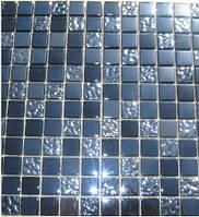 Мозаика для стен стекло Progres DI005 черная