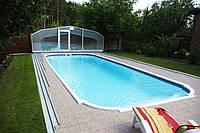 Стекловолоконный бассейн Торренс 10,10х4,30м глубиной 1,40-2,00м