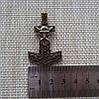 Молот Тора Хольгер Бронзовое покрытие + брелок / Амулет брелок 4x2 см