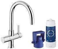 Смеситель для кухни, Grohe Blue Pure 33249001 с системой очистки воды (фильтр на 600 л.)