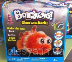 Конструктор липучка Банчемс Bunchems светящийся в темноте,Подводный мир 220 деталей