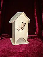 Коробка для хранения чайных пакетиков котенок (10 х 10 х 23 см)