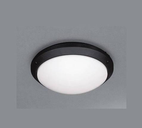 Светодиодный cветильник для ЖКХ Lemanso LM938 накладной 7W 4000K круглый черный IP54 Код.57650, фото 2