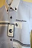 Рубашка приталенная голубая, детские рубашки для мальчиков 80-110, фото 2