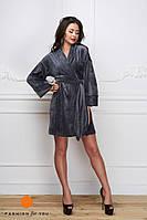 Женское модное бархатное платье с запахом (3 цвета), фото 1