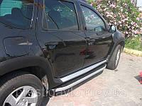 Боковые пороги на Renault Duster (Alians)