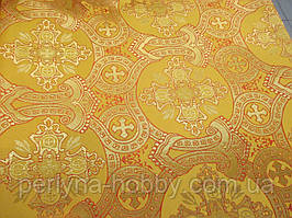 Тканина церковна Корона жовта