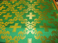 Тканина церковна Царський хрест зелений ш/з