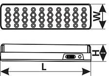 Аварийный светильник DELUX REL-400 (4V1,2Ah), фото 2