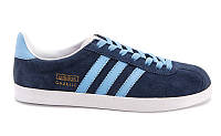 Кроссовки Adidas Gazelle Indoor (Blue/White)