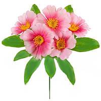 Букет искусственных цветов Ноготки цветные бордюр , 22 см