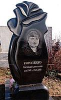 """Эксклюзивный памятник """"Бутон розы"""" черный"""