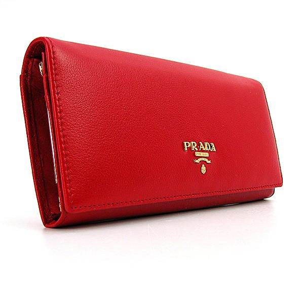 acb2712a96fe Кошелек женский Prada pd-514 кожаный красный на кнопке классической формы,  фото 1