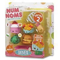 Набор ароматных игрушек Num Noms S2 - Фаст Фуд (3 нама, 1 ном, с аксессуарами)