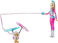 Кукла Барби Barbie с летающим котиком Космическое приключение Barbie Star Light Galaxy