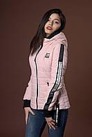 Женская молодежная демисезонная куртка. Код модели К-93-38-17. Цвет пудровый.