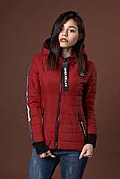 Женская молодежная демисезонная куртка. Код модели К-93-38-17. Цвет марсала.