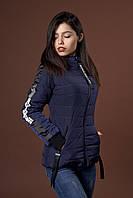 Женская молодежная демисезонная куртка. Код модели К-93-38-17. Цвет синий.