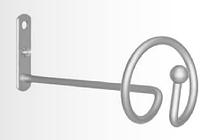 Розетта-держатель для штор и занавес Спираль сатин-никель