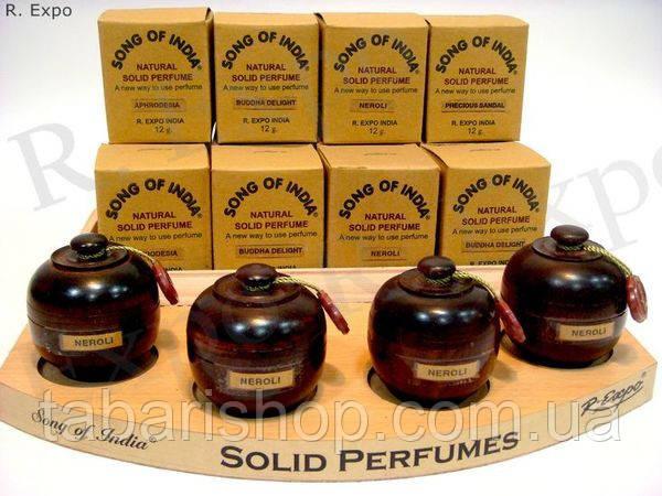 Сухие натуральные духи в деревянной упаковке Magnolia, 6 гр