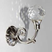 Крюк-держатель для штор и занавес Завиток серебро