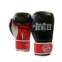Боксёрские перчатки BENLEE Carlos 12 ун. (черный/красный/белый)